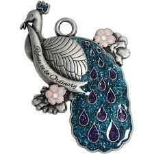 pewter peacock ornament walmart