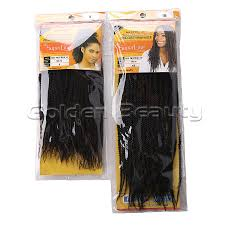 soul twist bulk hair folded senegalese synthetic hair extension 14 18 inch black color
