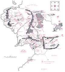 map of the lord of the rings map of middle earth j r r tolkien