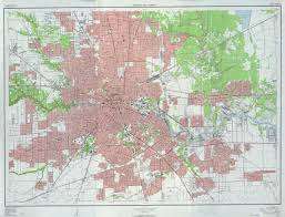 Harris County Zip Code Map by Old Houston Maps Houston Past