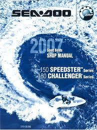 seadoo 07 speedster 150 challenger 180 boats pdf throttle