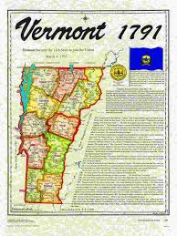 State Of Vermont Map by Statehood Maps