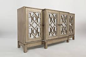 wood and mirrored console table jofran furniture casa bella vintage silver 70 inch mirrored console
