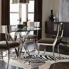 argent round dining table gustav metal side chair and zigrino