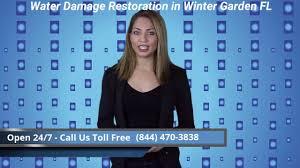 water damage restoration winter garden fl 844 470 3838 youtube