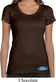 Halloween Shirts For Ladies Ladies Ford Shirt Ford Oval Bottom Print Scoop Neck Tee T Shirt