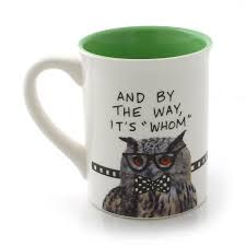 owl mug owl mug our name is mud