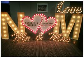 wedding backdrop letters illuminated letter for hire weddings proms