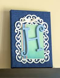 How To Make Home Decor How To Make A Monogram Canvas Mod Podge Rocks