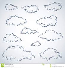vector freehand sketch clouds stock vector image 49415874