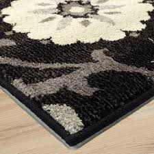 Modern Floral Area Rugs 4304 5x8 Chico Seal Thick Pile Modern Floral Area Rug