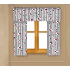 nfl kansas city chiefs window curtain panels walmart com