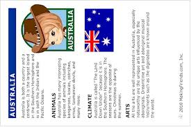 australia fact sheet print out your thinking day australia fact