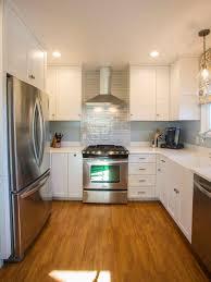 house hunters renovation hgtv transitional kitchen with glossy