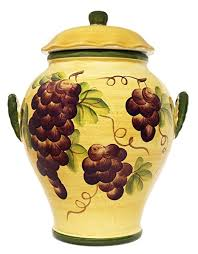 grape canister sets kitchen cookie jar canister tuscany grape wine decor grapes