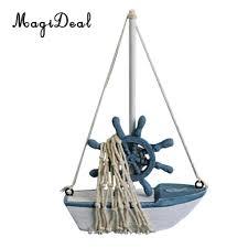 magideal nautical sailboat mini wooden buoy sailing ship table