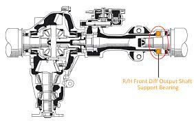 3rz fe compressor repair manual genuine r h front diff output shaft support bearing roughtrax 4x4