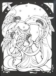 coloring page angel visits joseph christmas angels to color s christmas angels colouring pages