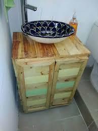 Wood Bathroom Furniture 27 Beautiful Diy Bathroom Pallet Projects For A Rustic Feel