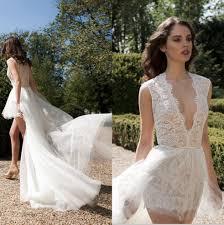 discount berta bridal 2016 v neck lace wedding dresses high low