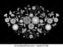 imagenes blancas en fondo negro plano de fondo negro bordado salvaje flores blancas vectores
