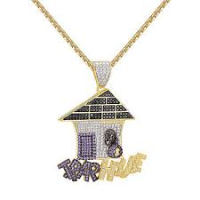 custom pendant trap house hip hop custom pendant 2 1 iced out simulated diamonds
