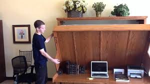 wall beds with desk disappearing desk bed wilding wallbeds youtube