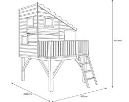 shire command post shiplap wooden playhouse