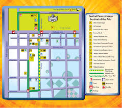 Penn State Map by Map Parking And Directions Central Pa Arts Festival