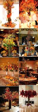 fall themed wedding centerpieces tabletop decorations