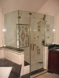 Bath Showers Enclosures Glass Shower Enclosures Corner With Transparent Glass Walls This