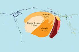 Cartogram Map Ebola Deaths Geographical