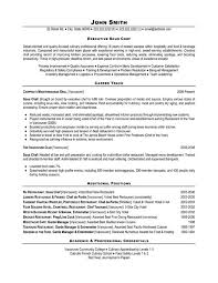 chef resume template executive chef resume sle krida info