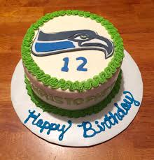 seattle seahawks birthday cake cakes cupcakes and cookies
