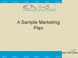a sample marketing plan docslide