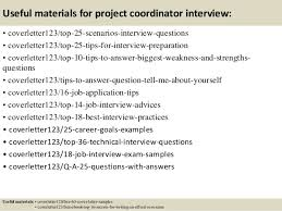 perfect sample cover letter for project coordinator 14 with