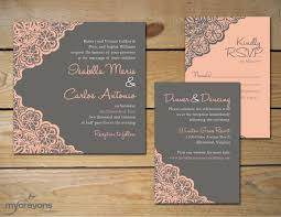 diy wedding invitations stylish diy wedding invitations 17 best ideas about lace
