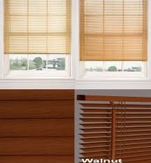 window venetian blinds wood grain effect easy fit home office