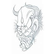 24 best japanese death mask tattoo drawing images on pinterest