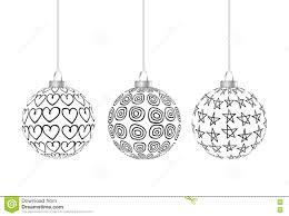 three black and white balls hanging stock illustration