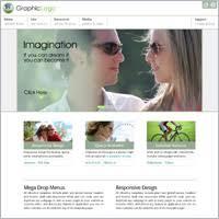 responsive mega drop down menu website templates