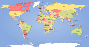 Map Of Countries World Map A Clickable Of Countries Throughout Th Grahamdennis Me