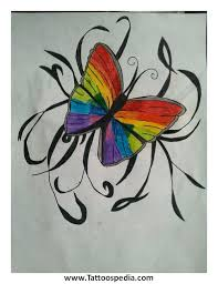 rainbow butterfly designs 5
