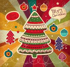 vintage christmas tree vintage illustration with christmas tree royalty free cliparts