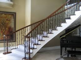 Fusion Banister Stair Rail Minimalist Concrete Floor Entryway Photo In Seattle