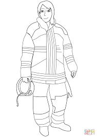 female firefighter coloring free printable coloring pages