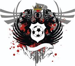 heraldic eagle coat of arms crest soccer tattoo crest stock vector
