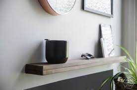 entry shelf diy thin modern wood shelf with partial ledge lemon thistle