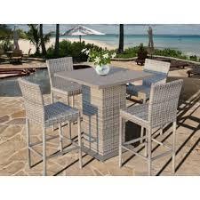 bar high dining table bar height table set wayfair