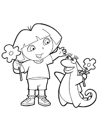 dora explorer printable coloring pages dora explorer